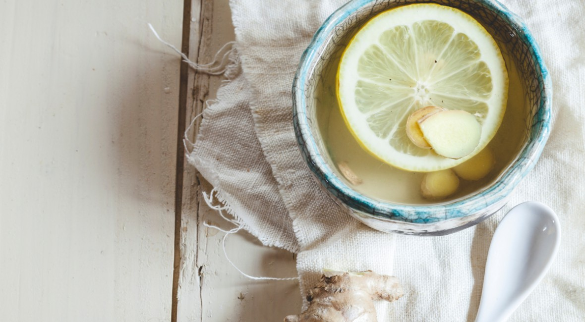 Bilde av en kopp med bli frisk-drikk