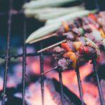 Grillspyd på grillrist